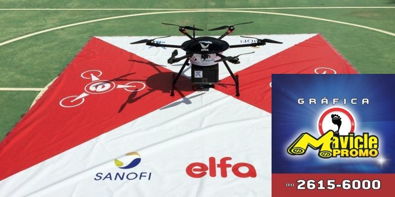 Entregas com drones são a nova aposta do grupo Sanofi e Grupo Elfa   Imã de geladeira e Gráfica Mavicle Promo