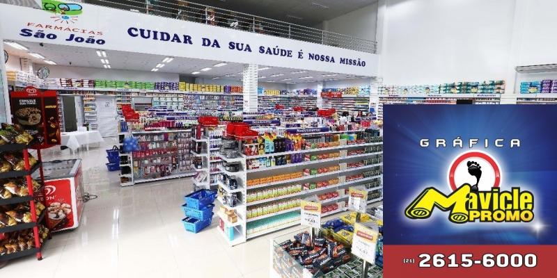 São João inaugura nova loja no RS e aposta nos serviços farmacêuticos   Imã de geladeira e Gráfica Mavicle Promo